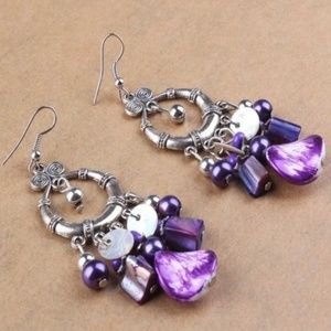 Jewelry - Purple Dangle Earrings